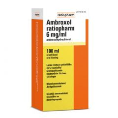 AMBROXOL RATIOPHARM 6 mg/ml oraaliliuos 100 ml
