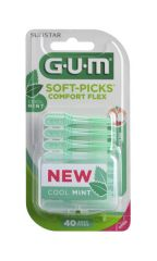 GUM Soft-Picks Comfort Flex Mint Medium harjatikku 40 kpl